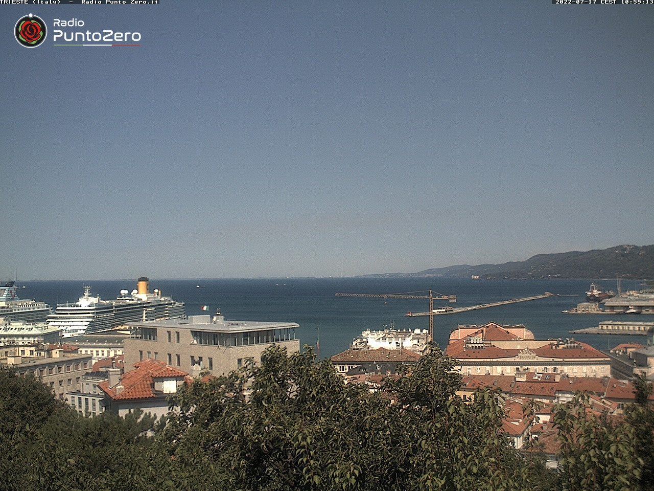 Webcam For The Port Of Trieste