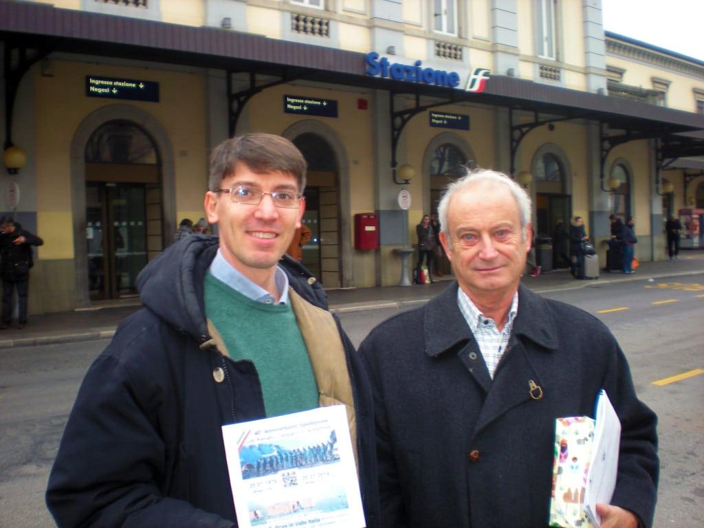 Julius Fabbri con il Prof. Marcello Manzoni che è stato rappresentante dell'Italia allo SCAR per trent'anni e che ha fatto la storia dell'esplorazione italiana in Antartide dagli anni 60