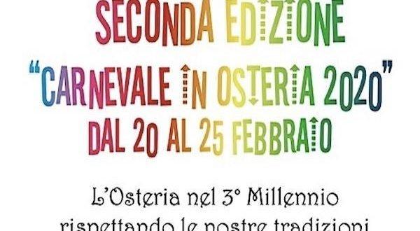 Carnevale in Osteria 2020